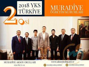 YKS TÜRKİYE 2.'Sİ MURADİYE OKULLARI'NDAN