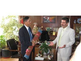 Güney Kore Büyükelçisi Çubukta