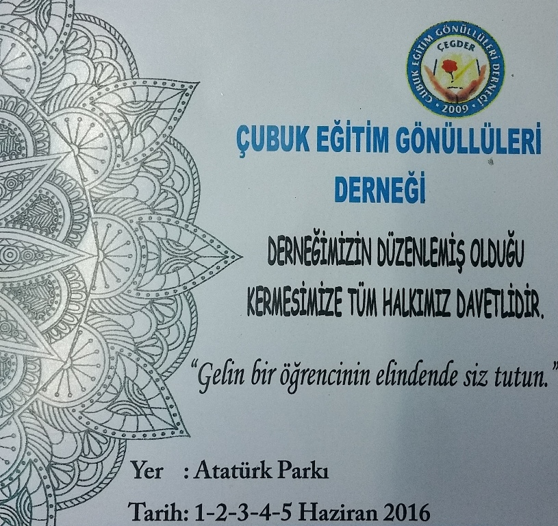 'EĞİTİM GÖNÜLLÜLERİ'NDEN KERMES'E DAVET...