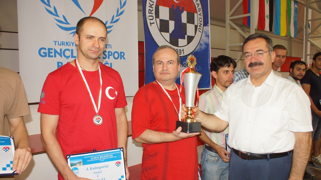 Uluslararası Çubuk Belediyesi Satranç Turnuvası sona erdi