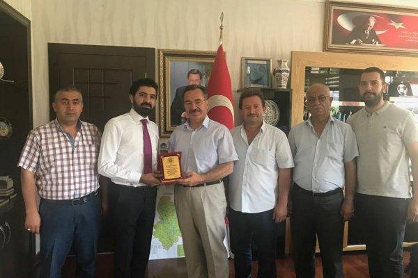 Çubukspor Kulübü Başkanı Akkaya'dan Başkan Acehan'a Ziyaret