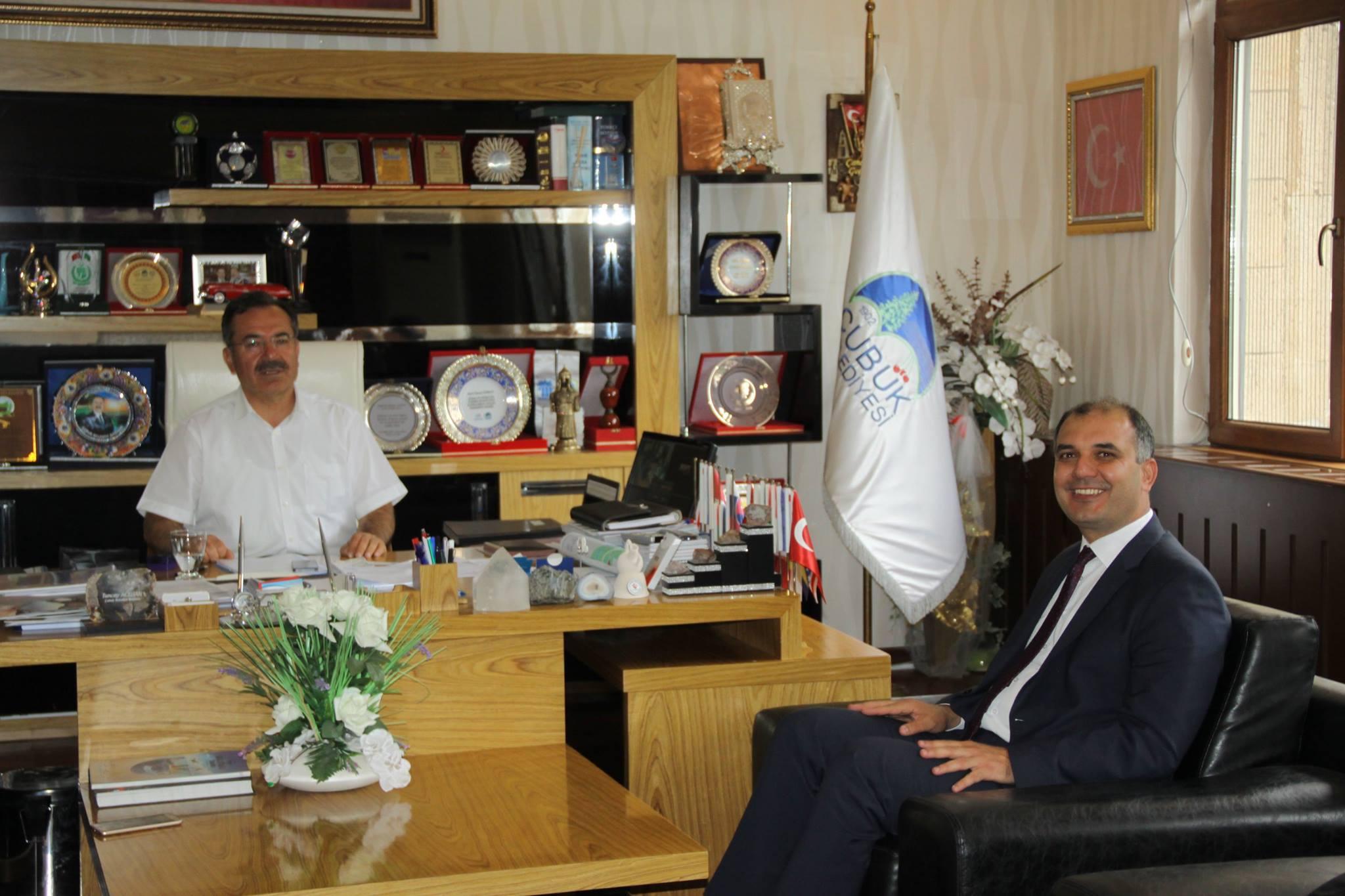 Erkoç'tan Çubuk Belediye Başkanı Acehan'a ziyaret