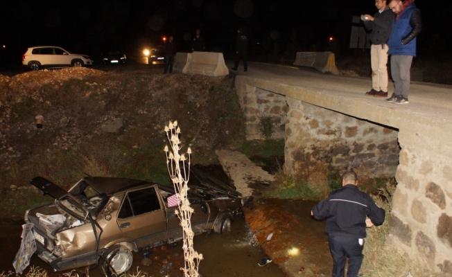Çubuk Çayı'na Düşen Otomobilin Sürücüsü Yaralandı