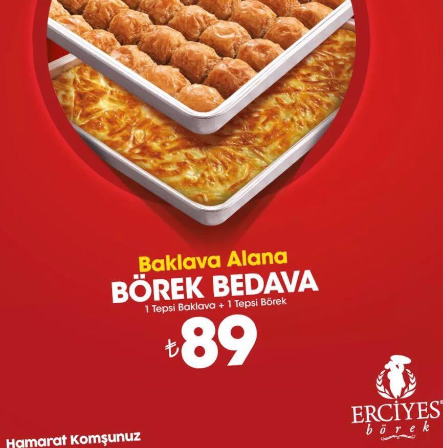 Erciyes Börekten Süper Kampanya