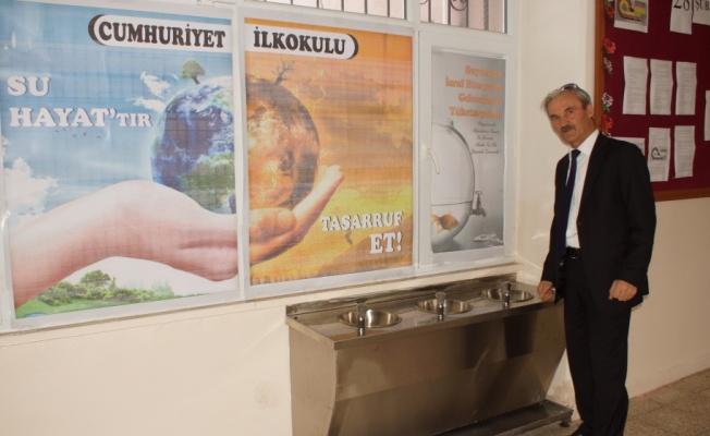 Okula 'Arıtmalı Su Sebili' Konuldu