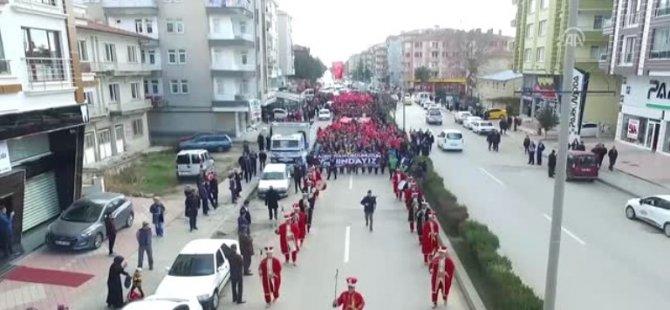 Çubuk'ta Zeytin Dalı Harekatı'na Destek Yürüyüşü