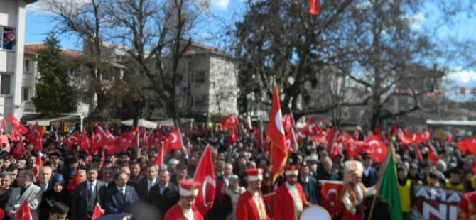 """""""ZEYTİN DALI HAREKÂTI VE MEHMETÇİĞE"""" DESTEK YÜRÜYÜŞÜ..."""