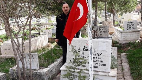 Çubuk'ta Şehit Mezarlarında Türk Bayrakları Yenilendi
