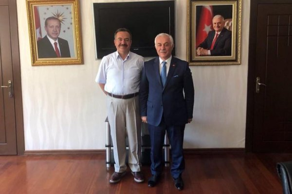 Ak Parti Milletvekili Aday Aday'ı Lokman Özden'den Başkan Acehan'a Ziyaret