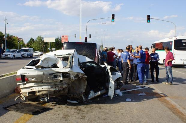 Çubuk'ta Zincirleme Trafik Kazası 6 Yaralı