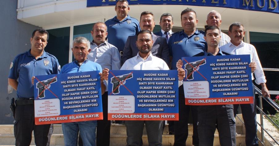 Çubuk'ta 'Düğünlerde Silaha Hayır' Kampanyası