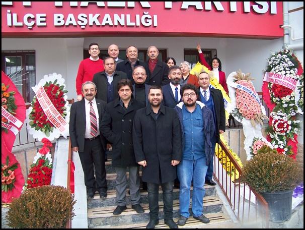 CHP YENİ İLÇE BİNASI'NIN AÇILIŞI YAPILDI...