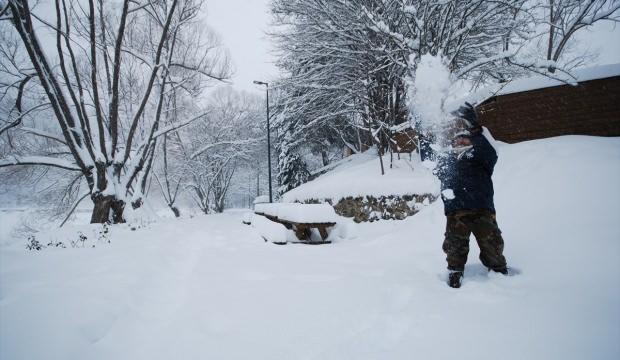 Kar Yağışı Başkentin Kırsalında Güzel Manzaralar Oluşturdu