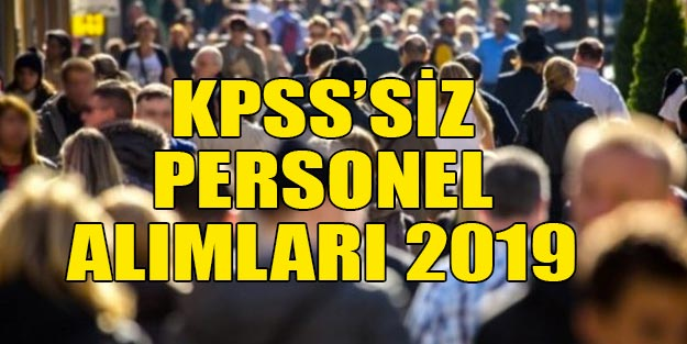 2019 KPSS'siz İŞKUR iş ilanları