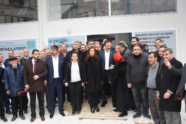 "İYİ PARTİ'DEN ""SEÇİM KOORDİNASYON MERKEZİ"" AÇILIŞI..."
