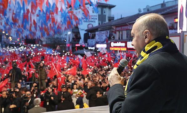 Cumhurbaşkanı Recep Tayyip Erdoğan Çubuk'ta