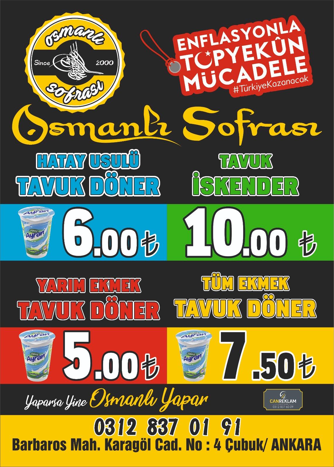 Osmanlı Sofrasında Enflasyon İle Topyekün Mücadele Kampanyası