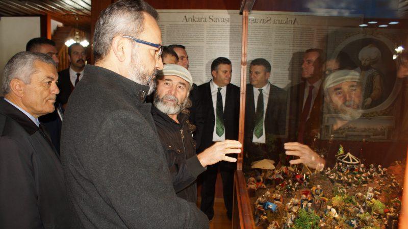 AYBÜ Rektörü Aydınlı, Çubuk Şehir Müzesini İnceledi