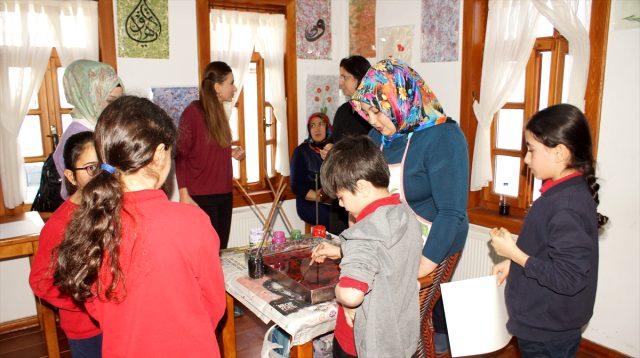 Çubuk'ta öğrenciler el sanatlarını öğrendi