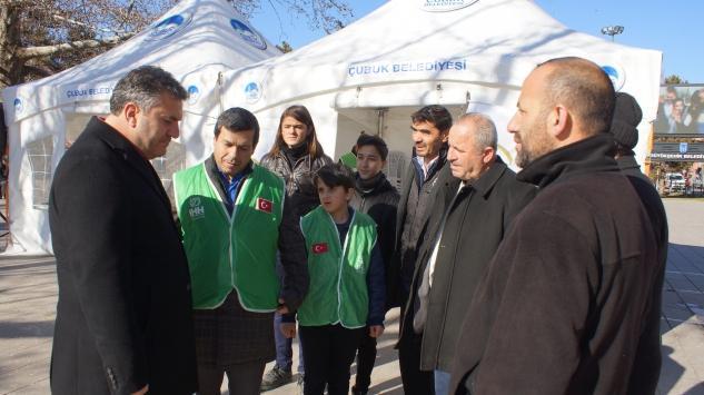 Çubuk'ta Elazığ'a yardım kampanyası başlatıldı