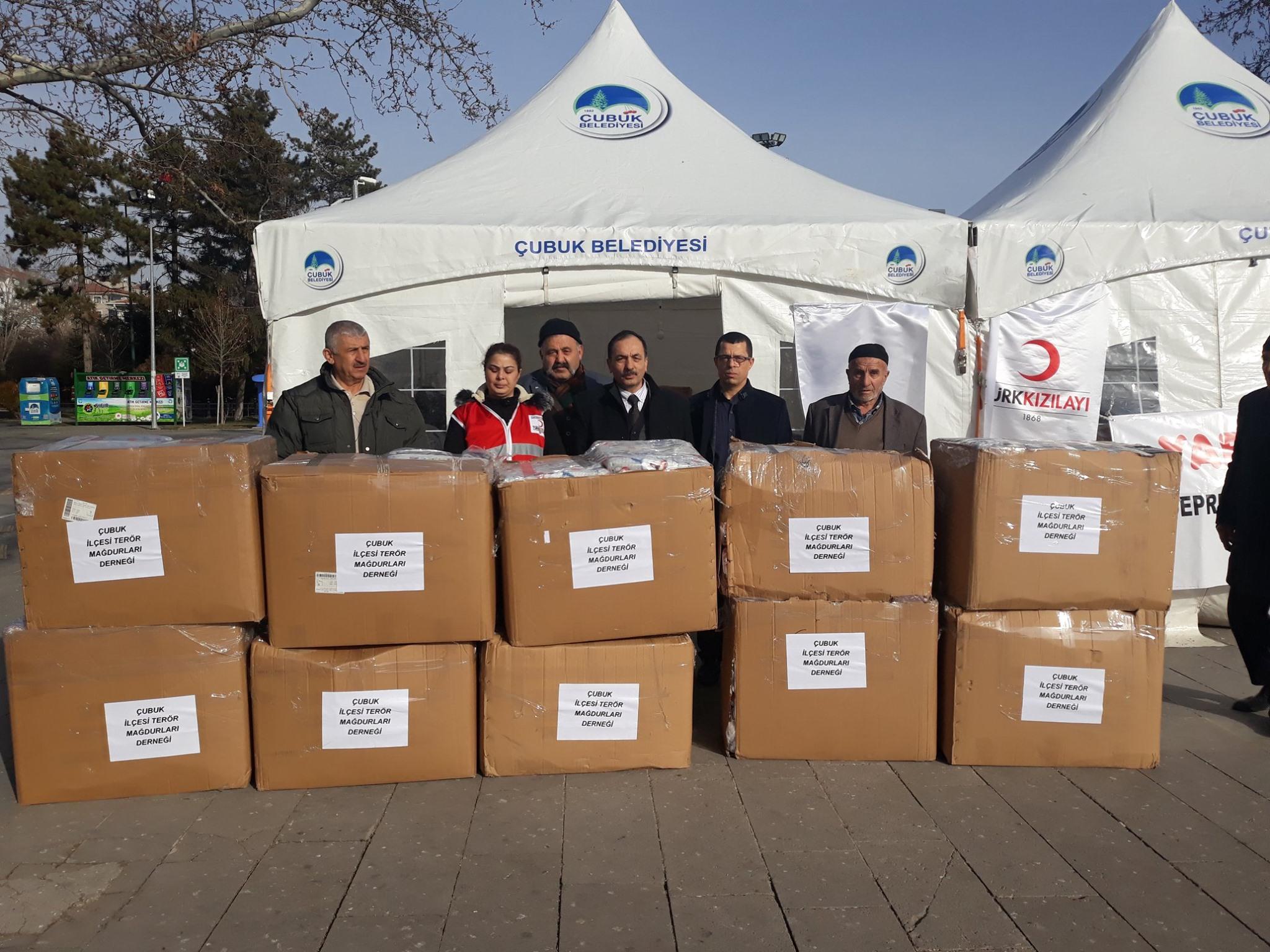 Terör Mağdurları Derneğinden Elazığa 100 Battaniye