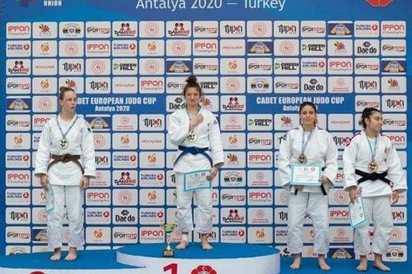 Çubuklu judocu Avrupa üçüncüsü oldu
