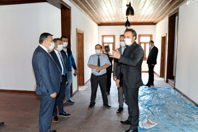 İl Kültür ve Turizm Müdürü Ali Ayvazoğlu Çubuk'ta incelemelerde bulundu