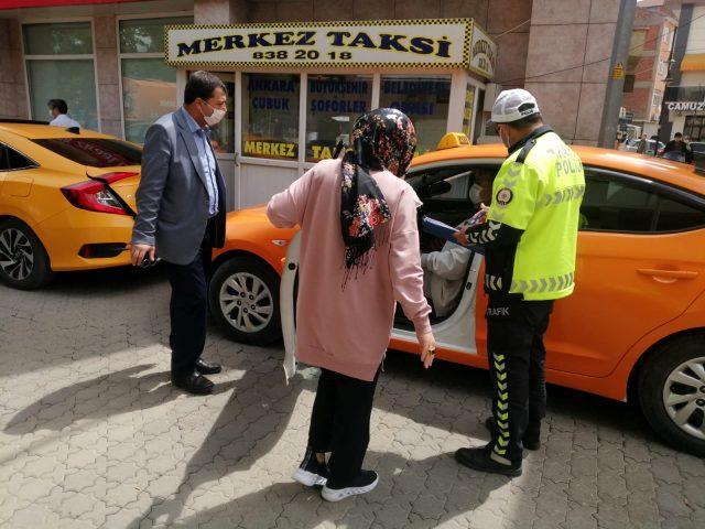 Çubuk'ta taksi ve dolmuşlar denetlendi