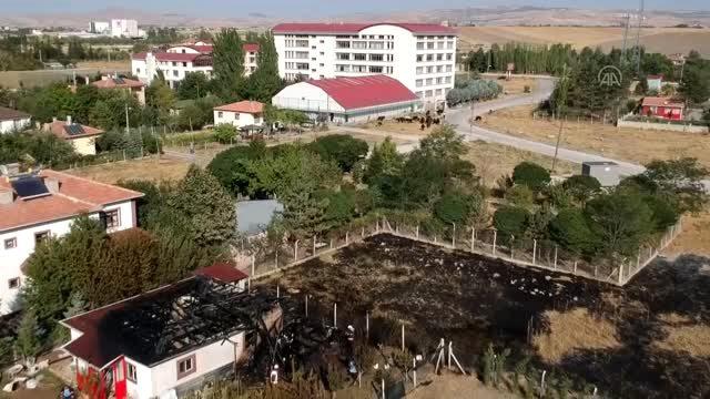 Çubuk'ta tek katlı evde yangın çıktı
