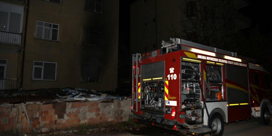 Çubuk'ta Çıkan Ev Yangını Söndürüldü