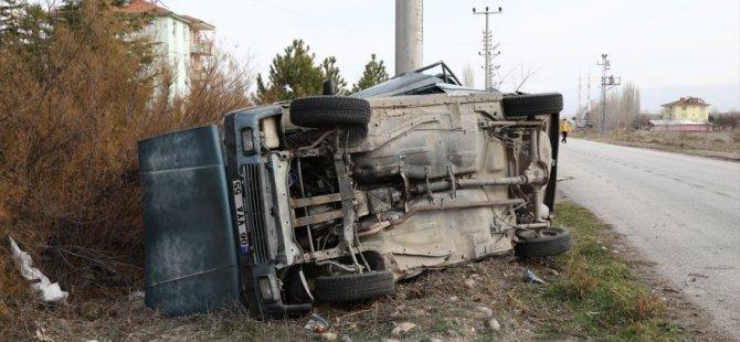Çubuk'ta Otomobil Devrildi: 1 Ölü 1 Yaralı