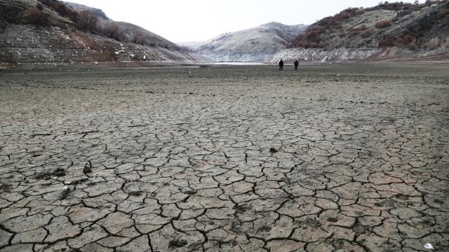 Çubuk-2 Barajı'nda su seviyesi yüzde 23'e düştü