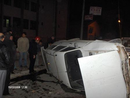 Ankara Bulvarında Kaza 2 Yaralı