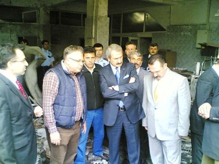 Sanayi Bakanı Olay yerinde