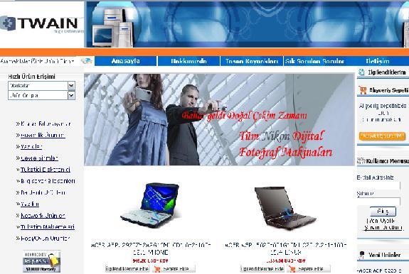TWAINden online alış veriş