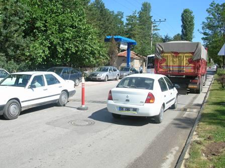 Çubuk'ta Trafik Zor İşliyor