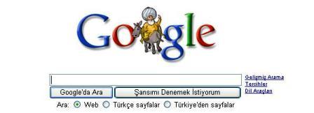 Google, Nasrettin Hocayı unutmadı