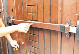 Hırsızlara karşı güvenlik kilidi