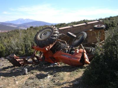 Sarıkozda Traktör Kazası