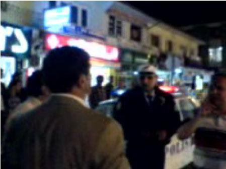 Konvoycular Polis ile tartıştı