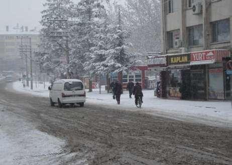 Çubukta karla mücadele tatbikatı