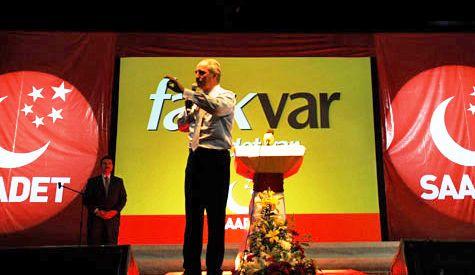 Saadet Partisi FARK BİZDE dedi