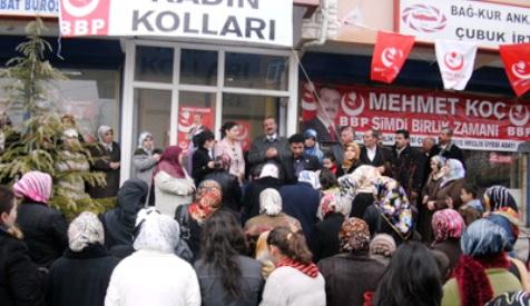 BBP Kadın Kolları Seçim Bürosunun açılışı yapıldı.