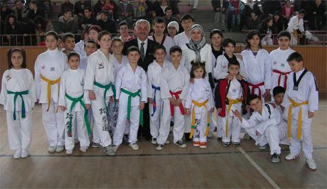 Taekwondocuların kuşak sevinci