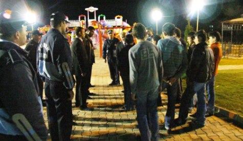 Özden, Gece Parkları Denetledi