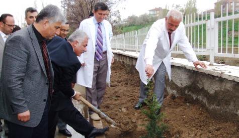 Endüstri Meslek Lisesinin Bahçesi Ağaçlandırıldı