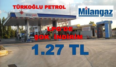 Türkoğlu Petrolde Oto Milangaz 1.27 TL