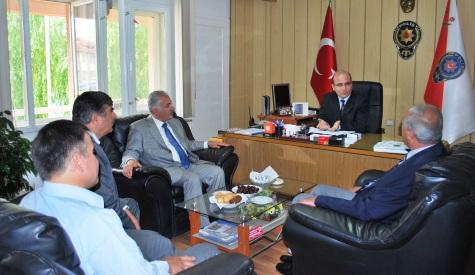 Belediye Başkanı Lokman Özden Yeni Emniyet Müdürünü  Ziyaret etti