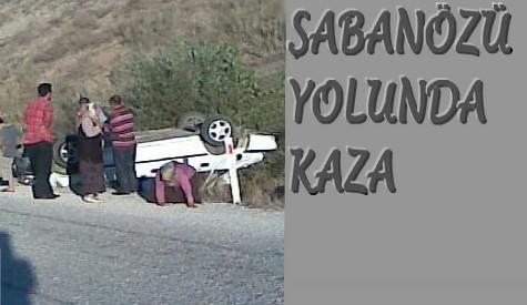 ŞABANÖZÜ YOLUNDA KAZA..!