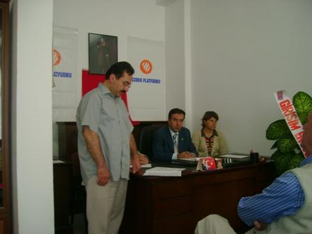 Çubuk Platformu 3.Genel kurulu yapıldı